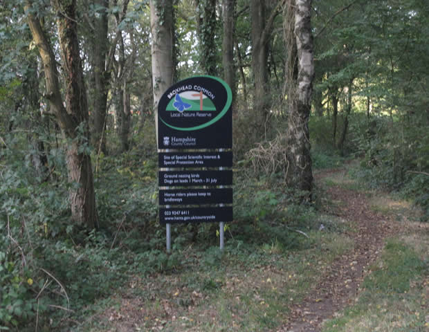 Four more illegal signs on bridleways at the eastern edge of the Broxhead Common