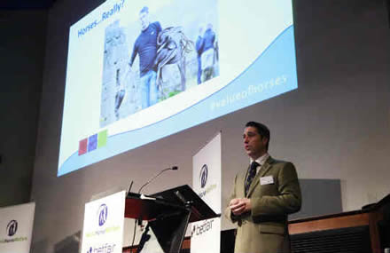 Royal Marine Veteran's life-changing story is one of the highlights as conference considers 'The Value of Horses'