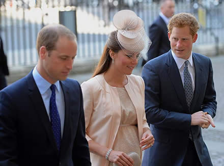 William, Kate and Harry join the best of British equestrianism to honour the late Olympic gold winner Richard Meade