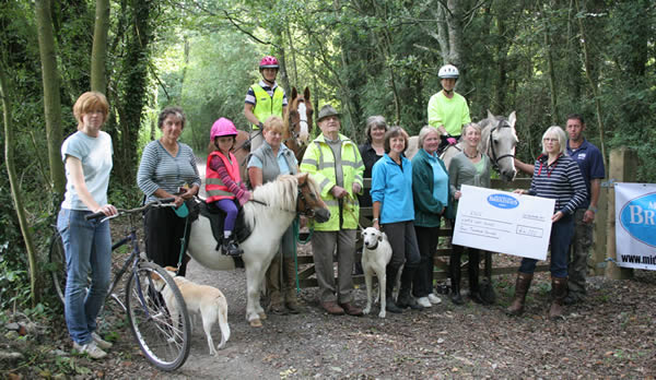 Local riders raise money to get their Whapple Way bridleway mended